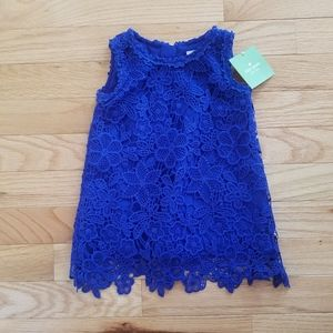 NWT ♠️ Kate Spade ♠️ Baby Girls Blue Lace Dress